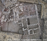 Luftbild des Gebäudes in Hattuscha