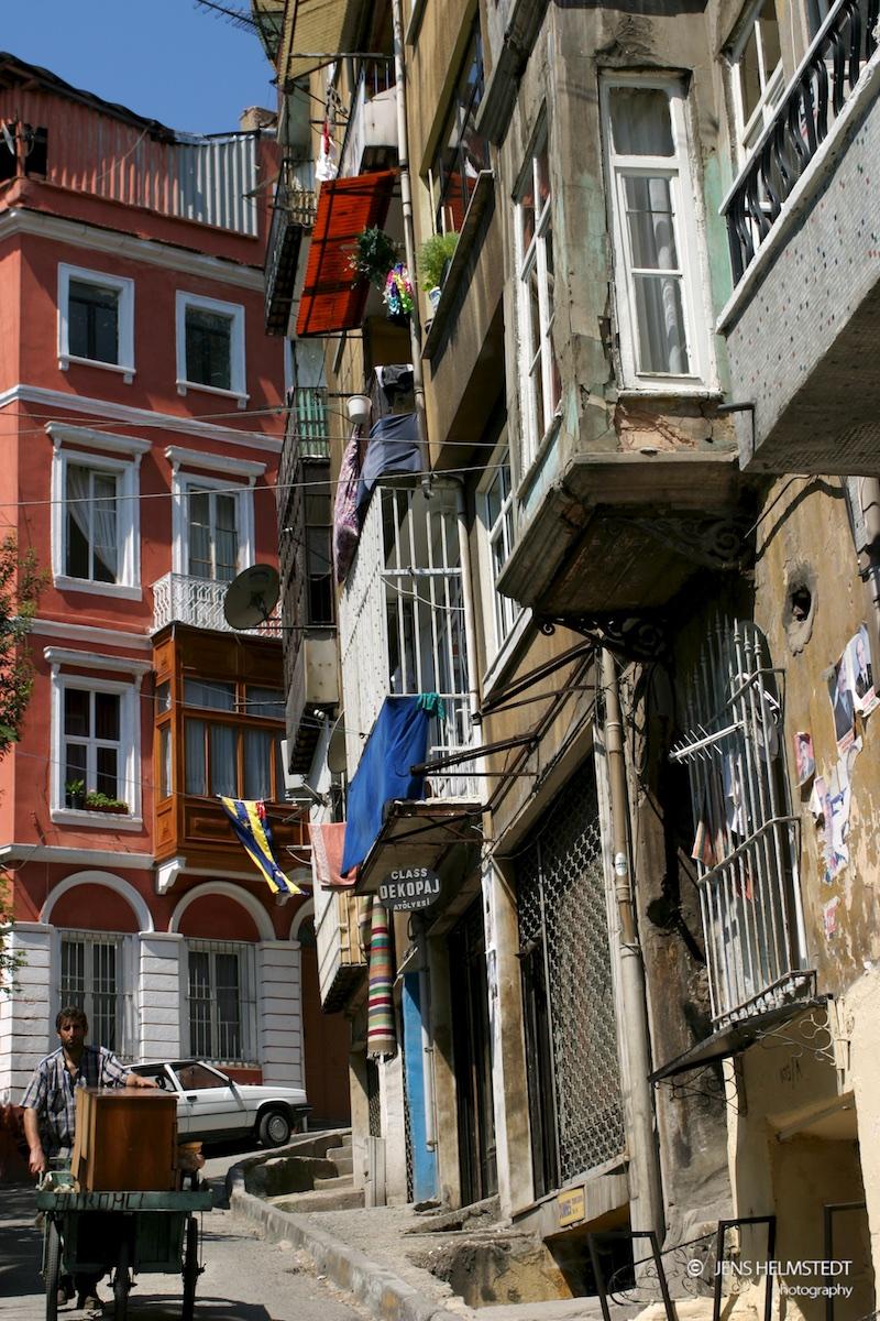 Alte Gassen in Istanbul-Tophane