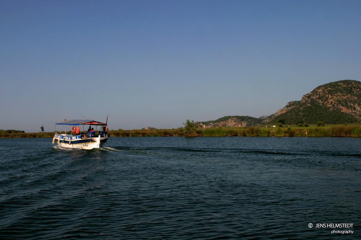 Boot im Dalyan Delta