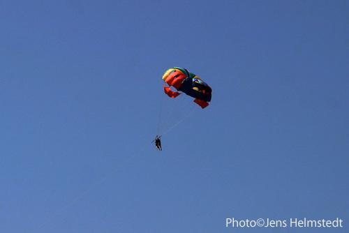 Paragliding in Ölüdeniz, Mittelmeer-Region der Türkei