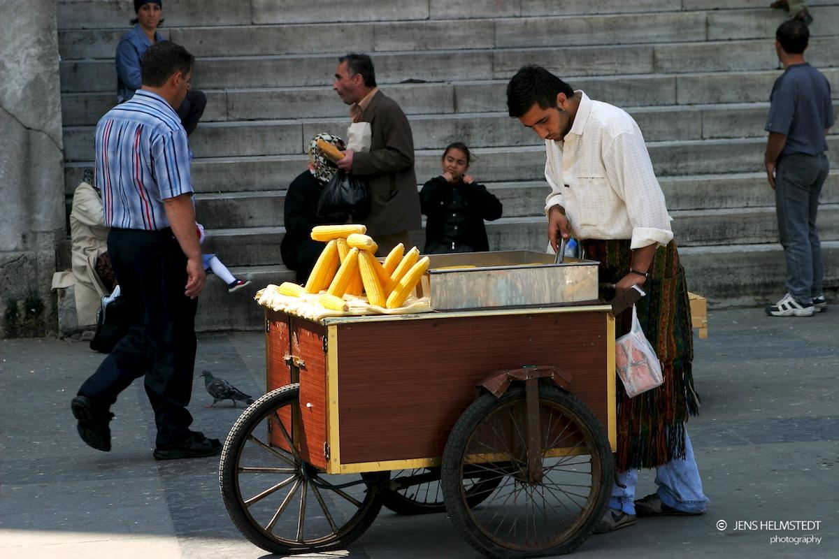 Maiskolben-Verkäufer in Eminönü