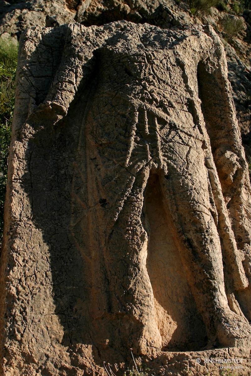 Relief in der antiken Stadt Arsameia