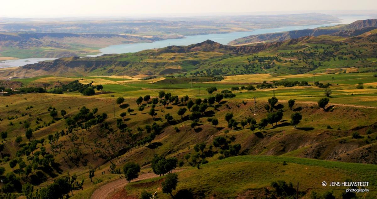 Euphrat in der Region Kahta in Südostanatolien
