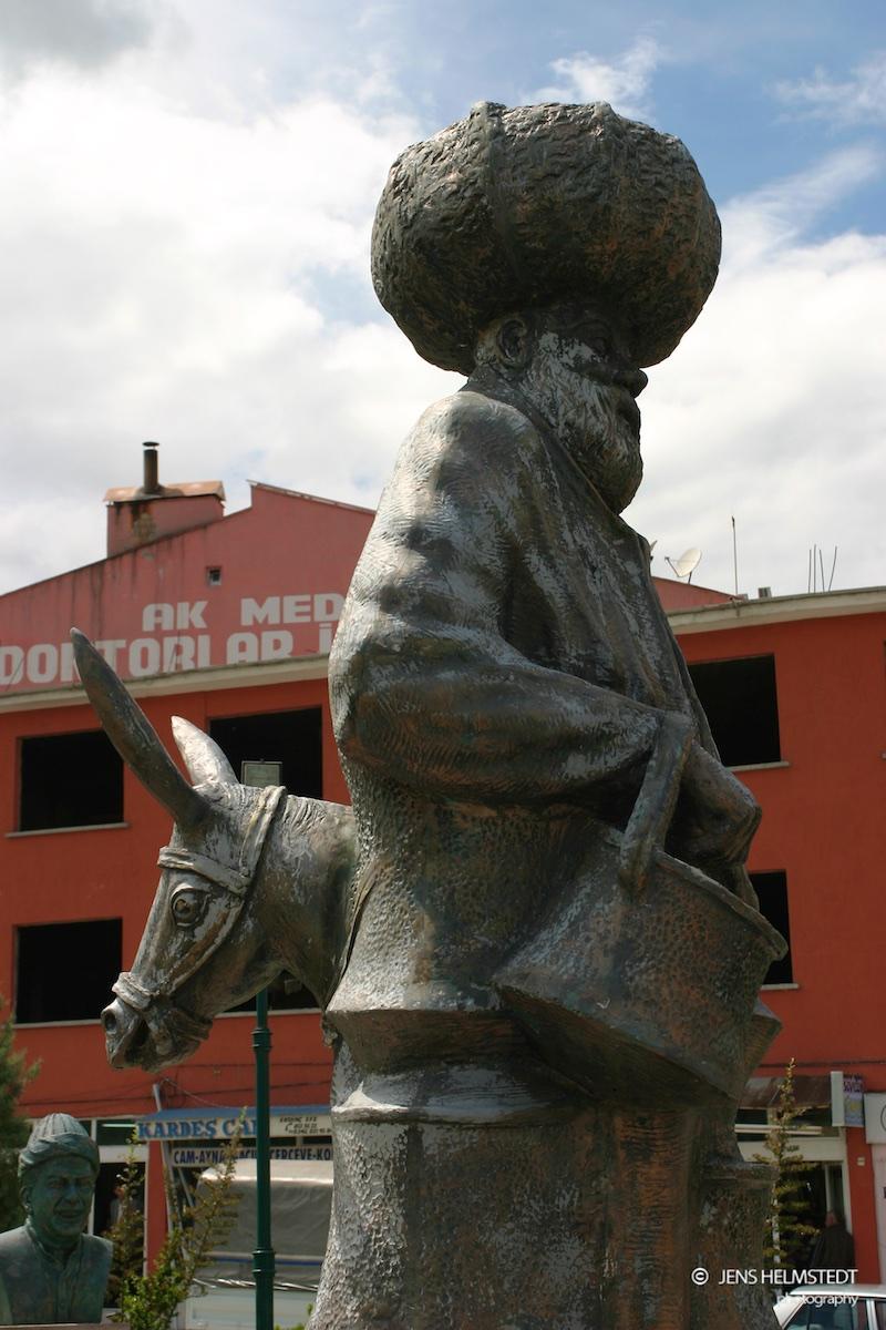 Statue von Nasreddin Hoca in Aksehir