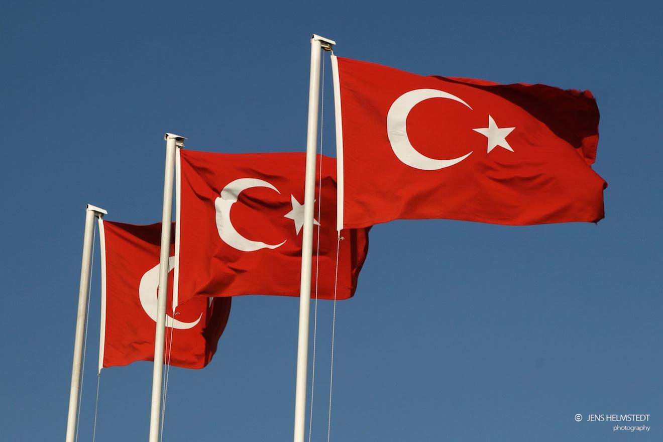 Türkische Fahnen