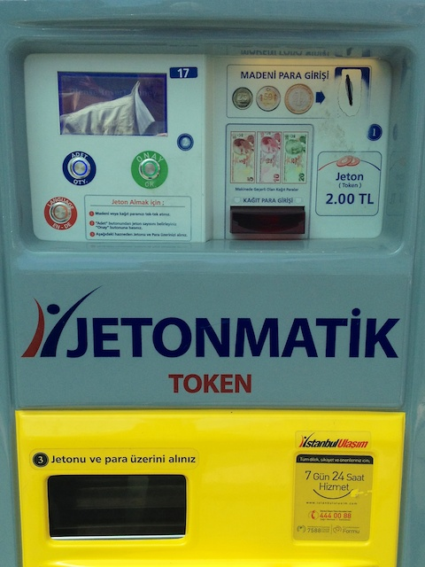 Ticket-Automat für Strassenbahn und Metro