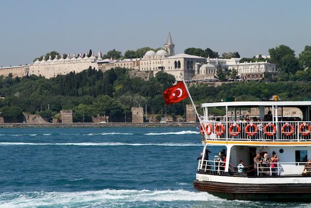 Topkapı Palast am Bosporus in Istanbul