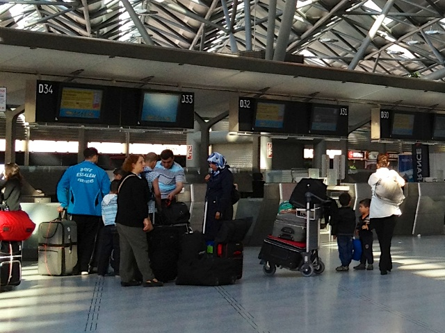 Checkin am Flughafen Köln-Bonn