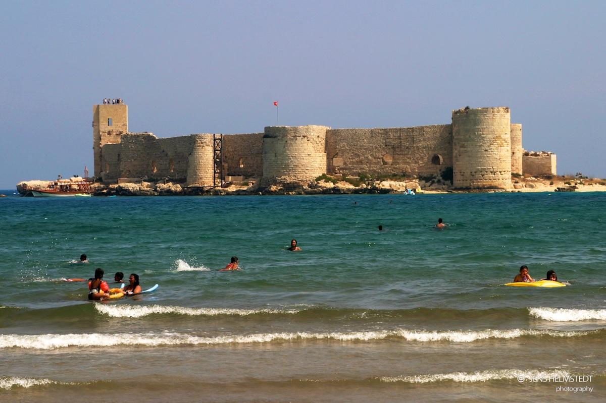 Kızkalesi an der Mittelmeerküste der Türkei
