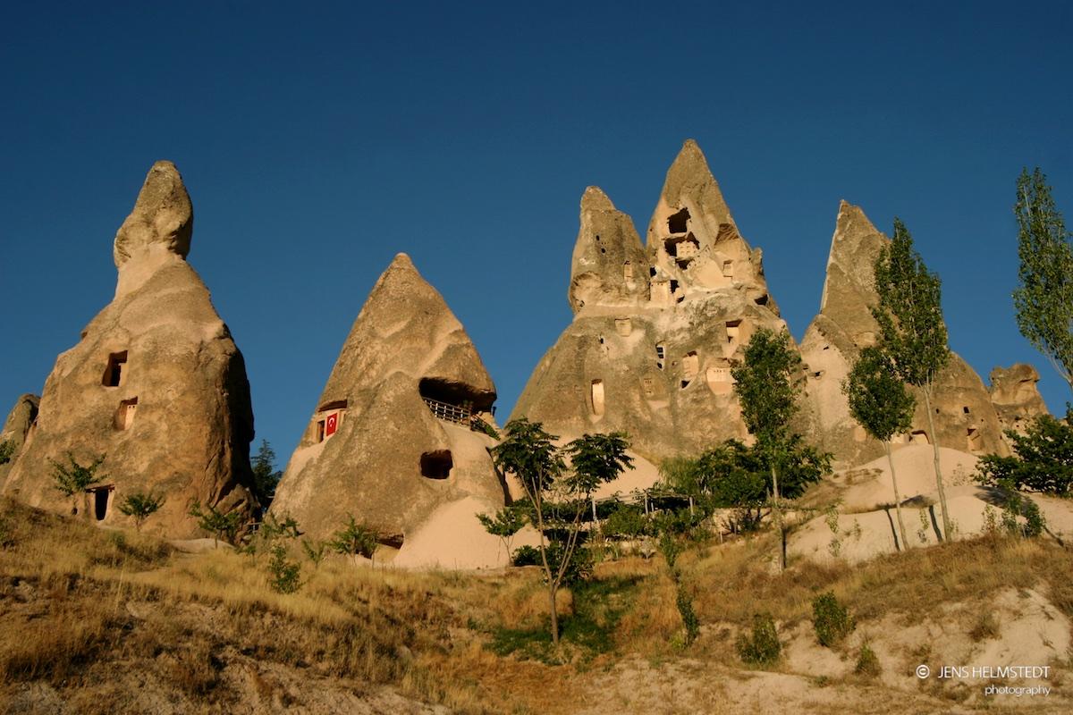Tuffstein-Behausungen in Uçhisar