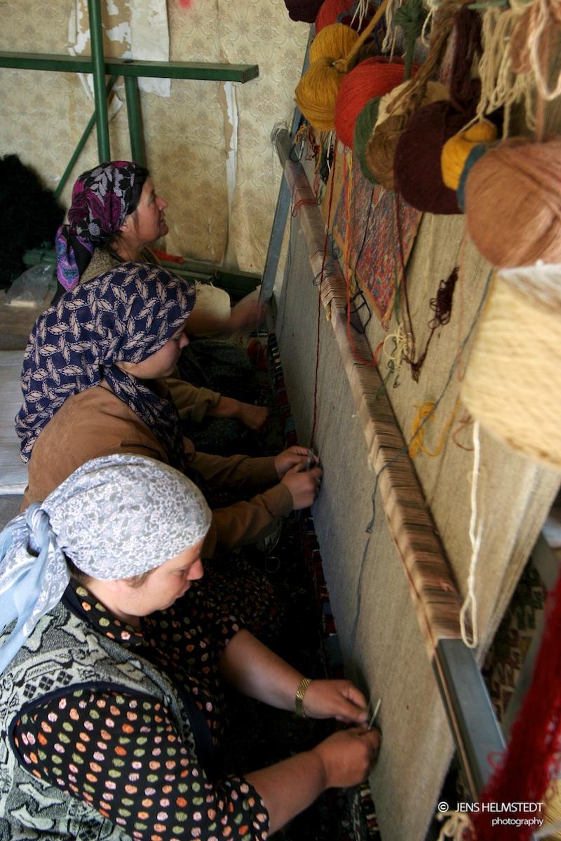 Teppichknüpferinnen in Taskale, Region Karaman