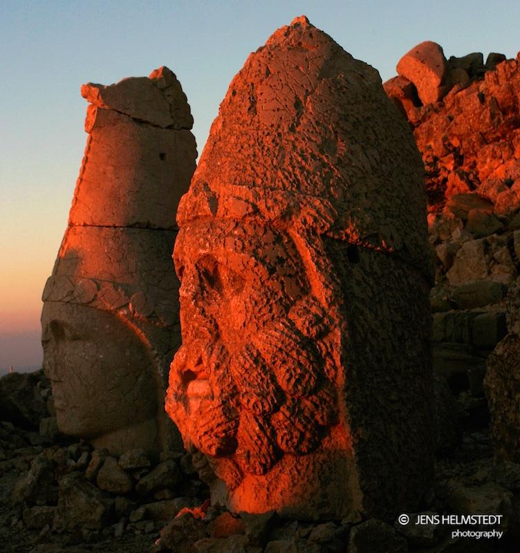 Sonnenaufgang auf dem Berg Nemrut