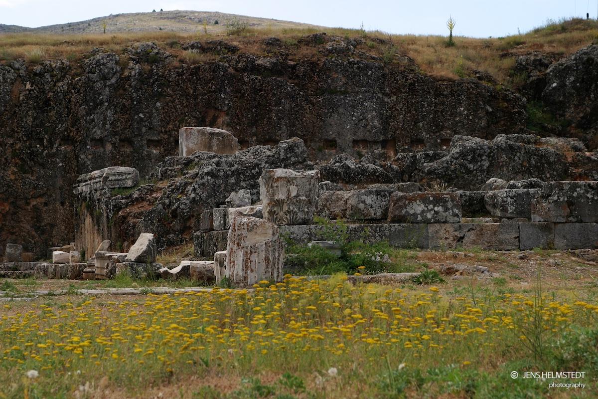 Ruinen des Augustus Tempel in Antiochia in Pisidien