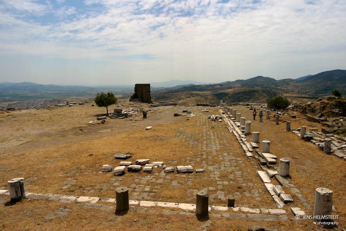 Ruinen der Bibliothek von Pergamon