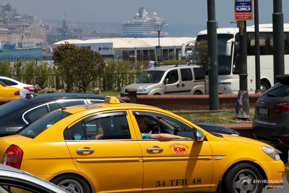 Taxi im Istanbuler Stadtteil Eminönü