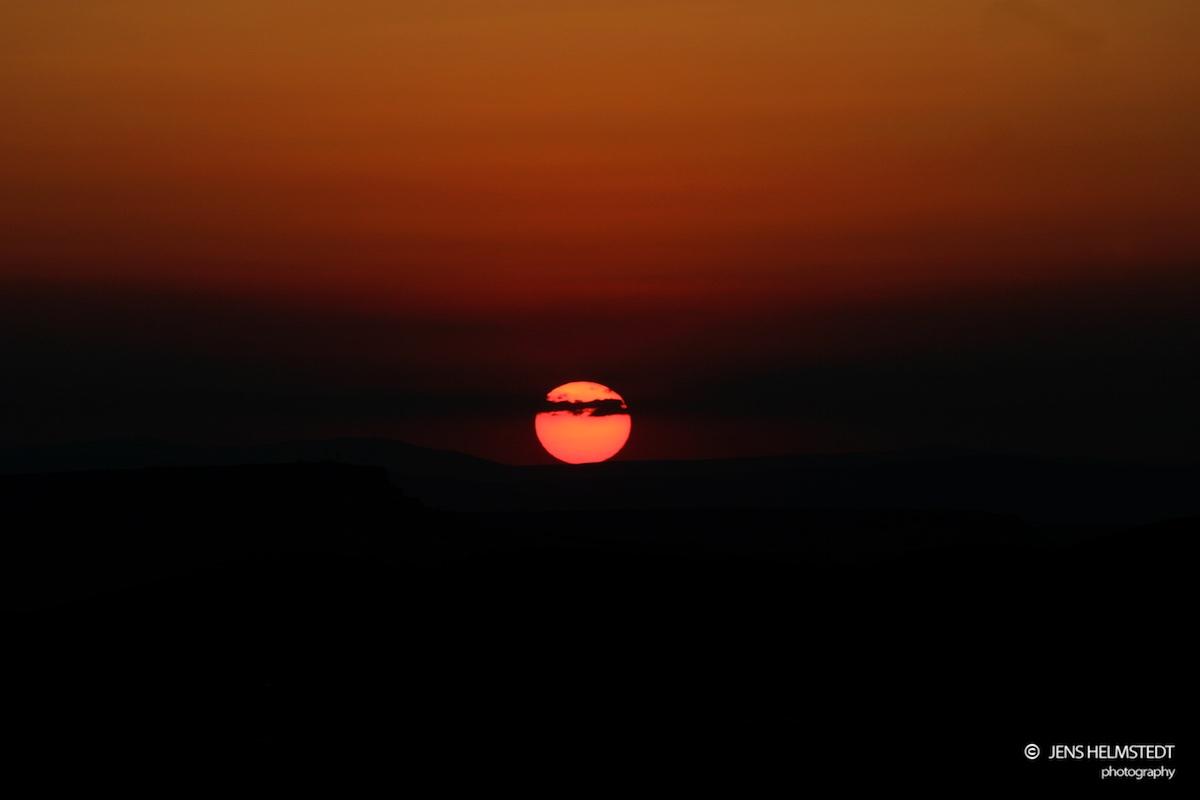 Sonnenuntergang in Uçhisar