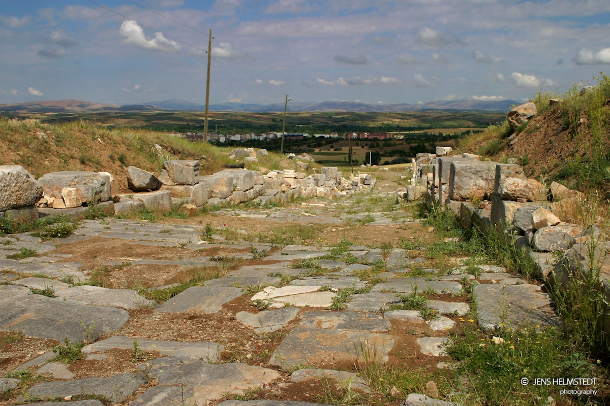 Römische Strasse in Antiochia in Pisidien